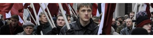 Latvian Nazis demonstrate