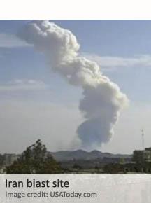 Iran blast site