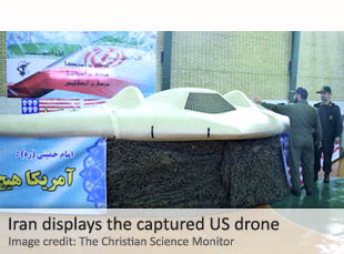 Iran displays captured US drone