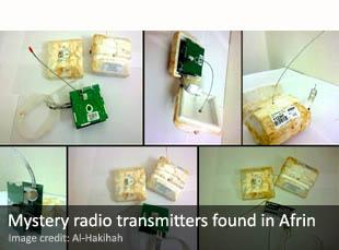 Radio transmitters found in Afrin, Syria