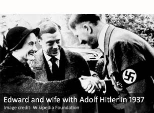 Edward VIII and Wallis Simpson with Adolf Hitler