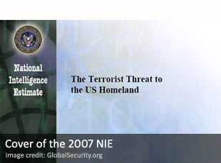 Cover of the 2007 National Intelligence Estimate