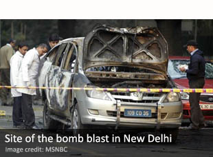 Bomb blast in New Delhi