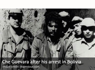 Che Guevara after his arrest in Bolivia