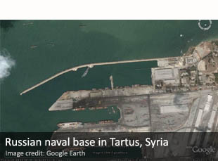 Russian naval base in Tartus, Syria