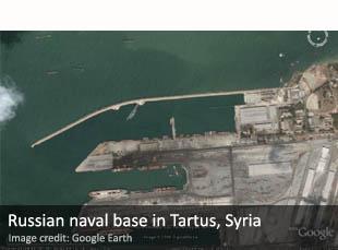Russian naval base in Tartus, Syria