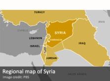Regional map of Syria