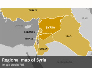 Regional map of Syria