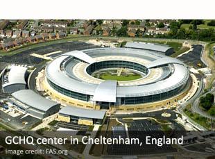 GCHQ center in Cheltenham, England