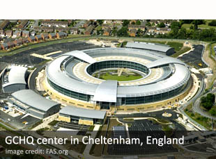 GCHQ center in Cheltenham, England
