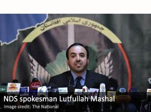 NDS spokesman Lutfullah Mashal
