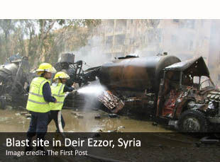 Blast site in Deir Ezzor, Syria