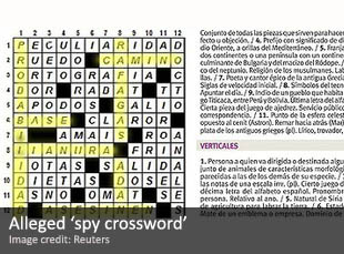 Alleged Venezuelan 'spy crossword'
