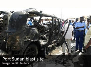 Blast site in Port Sudan