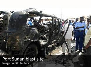 Blast site in Port Sudan