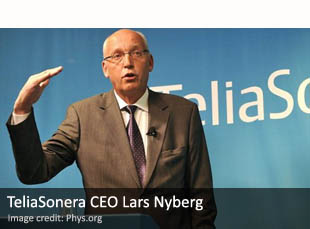 TeliaSonera CEO Lars Nyberg