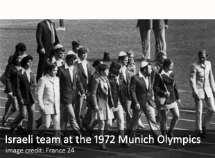 Israeli athletes at the 1972 Munich Olympics