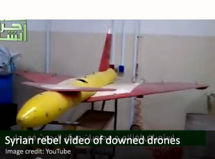 Syrian rebel video of downed drones