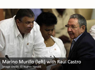 Marino Murillo (left) with Raúl Castro