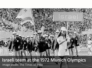Israeli team at the 1972 Munich Olympics