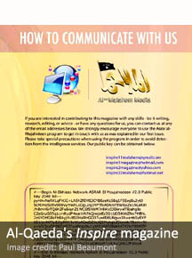 Al-Qaeda's Inspire Magazine illustrates the communication method