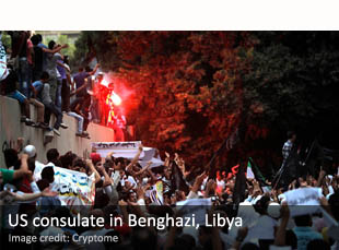 US consulate in Benghazi, Libya