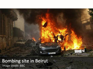 The bombing that killed Wissam al-Hassan