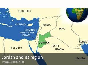 Jordan and its surrounding region
