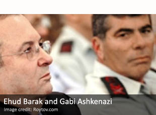 Ehud Barak and Gabi Ashkenazi