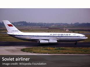 Soviet Aeroflot airliner