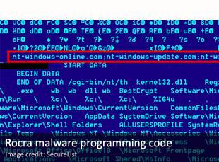 Rocra malware programming code