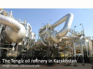 The Tengiz oil refinery in Kazakhstan