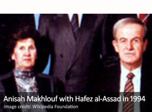 Anisah Makhlouf with Hafez al-Assad in 1994