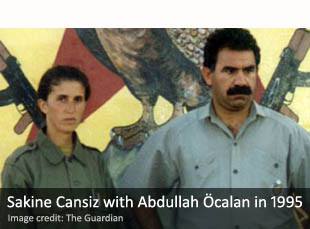 Sakine Cansiz with Abdullah Öcalan in 1995
