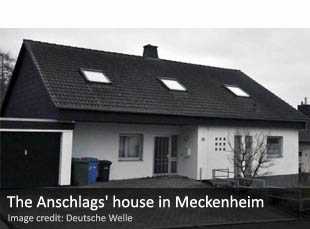 The Anschlags' house in Meckenheim