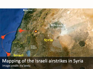 Mapping of the Israeli airstrikes in Syria