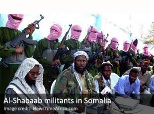 Al-Shabaab militants in Somalia