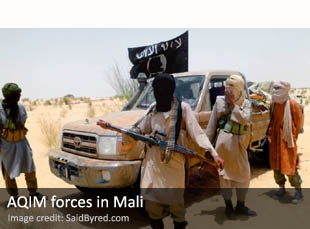 AQIM forces in Mali