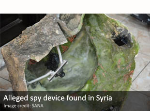 Alleged spy device found in Syria
