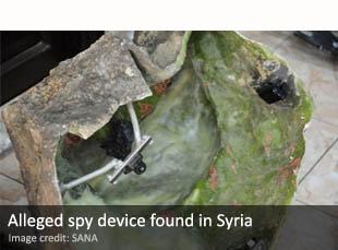 Alleged spy device found in Syria
