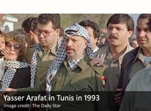Yasser Arafat in Tunis in 1993