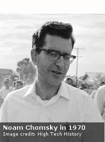 Noam Chomsky in 1970