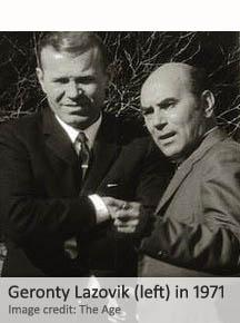 Geronty Lazovik (left) in 1971