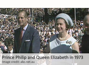 Prince Philip and Queen Elizabeth in 1973