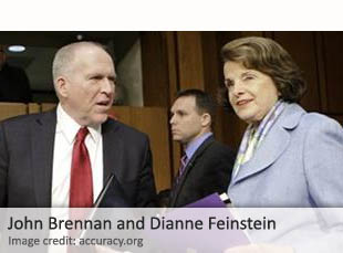 John Brennan and Dianne Feinstein