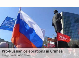 Pro-Russian celebrations in Crimea