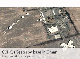 GCHQ's Seeb spy base in Oman