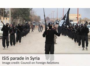ISIS parade in Syria