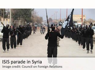 ISIS parade in Syria