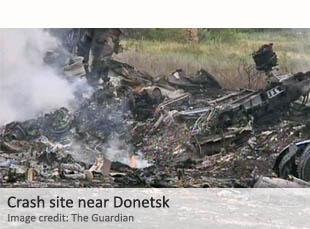 Malaysia Airlines crash site near Donetsk